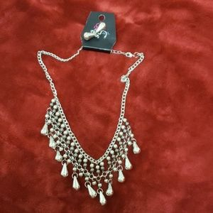 Paparazzi silver necklace